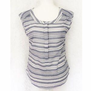 {Merona} Short Sleeve Striped Button Down